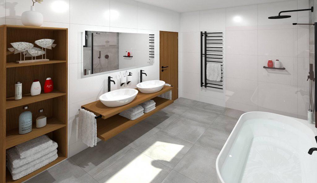 Minimalistická koupelna I.