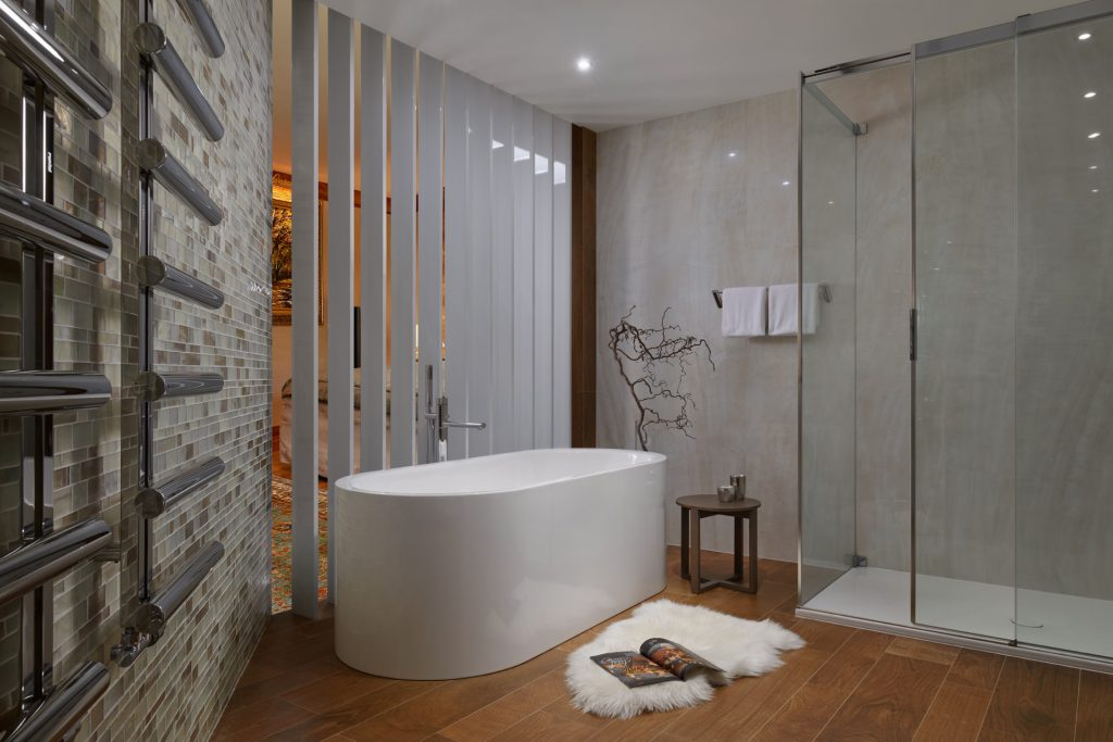 Designová koupelna veskandinávském stylu