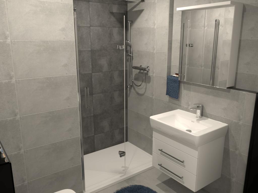 Klasická mini paneláková koupelna v pánském stylu