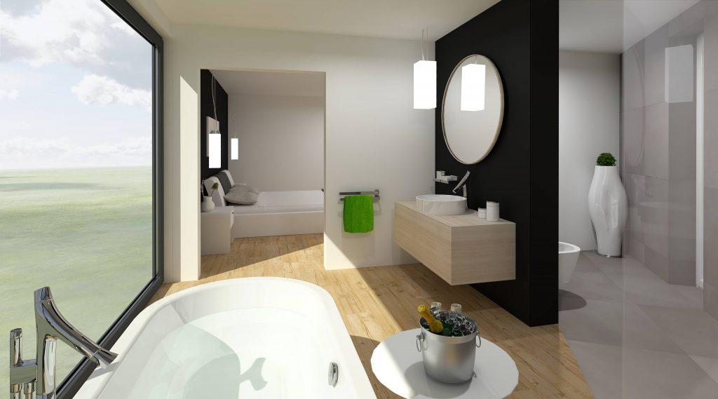 Vyladěná atypická koupelna