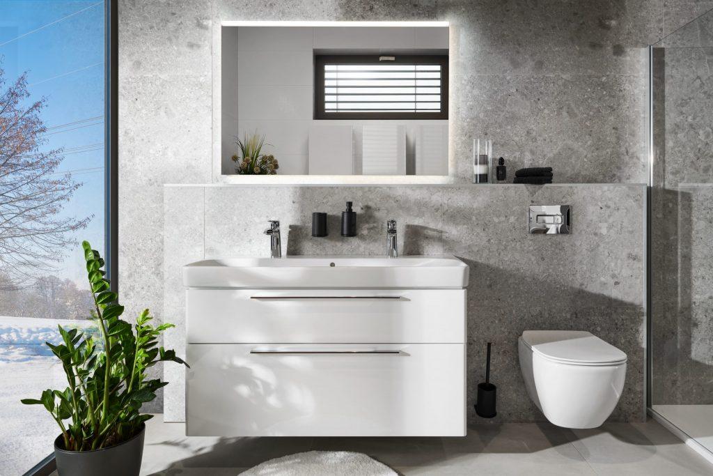 Koupelna v kamenném designu